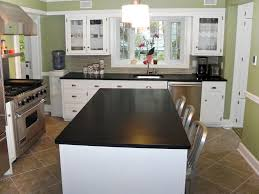 Black Kitchen Design Ideas Kitchen White Dining Set Dark Tile Flooring Black Kitchen
