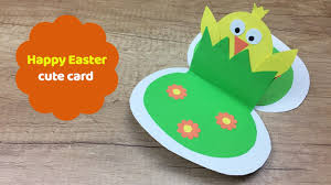 Easter Decorations With Construction Paper by Cute And Easy To Make Easter Card Great Easter Craft For Kids