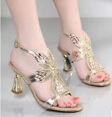 Rhinestone Sandal Heels Online Get Cheap Rhinestone Strappy Sandals Aliexpress Com