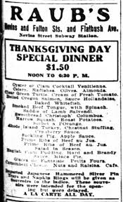 just what did you ancestors for thanksgiving familytree