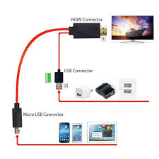 hdmi cord for android 2 0m mhl micro usb to hdmi adapter mhl turn hdmi cable lines for