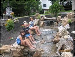 backyards innovative build a backyard pond and waterfall 30