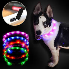 Dog LED Flash Sling Optical Fiber Luminous LED Tube Pet Collar