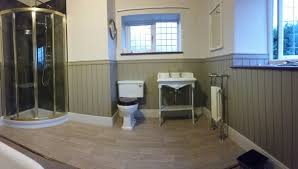 panelled bathroom ideas traditional bathroom cottage wood paneling gold lentine