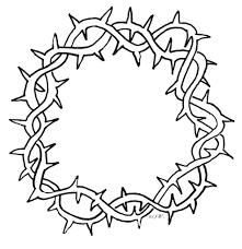 cross with crown of thorns clipart hanslodge cliparts