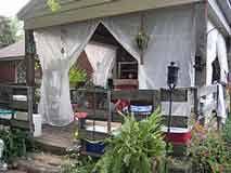 gazebo mosquito netting