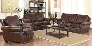 Top Grain Leather Living Room Set Leather Living Room Set Visionexchange Co