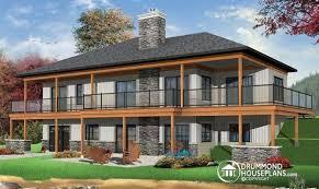 walkout basement design inspiring lakefront home plans with walkout basement photo house