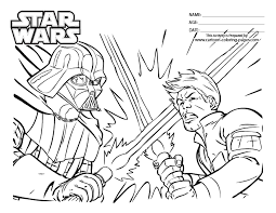 star wars coloring pages luke skywalker darth vader