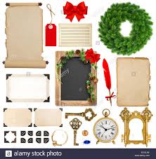 christmas decorations ornaments and gifts old book pages paper