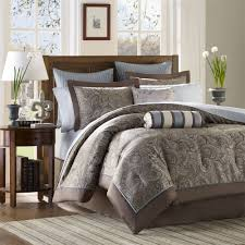 Bedroom Decorating Ideas In Blue And Brown Bed U0026 Bedding Blue And Brown Comforter Sets King For Elegant