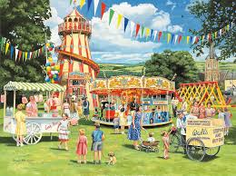 funfair on the green wall mural funfair on the green wallpaper funfair on the green wall mural photo wallpaper