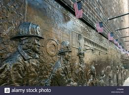 bronze wall mural dedicated to the fallen firefighters of bronze wall mural dedicated to the fallen firefighters of september 11 world trade center lower manhattan new york usa