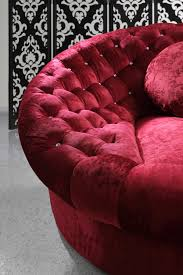 Red Velvet Sofa Set Divani Casa Cosmopolitan Mini Red Sectional Sofa Set Sofas