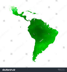 Latin America Map by Vector Map Latin America Isolated Vector Stock Vector 468308702