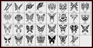 31 beautiful tribal butterfly photoshop brushes photoshop