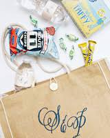 welcome wedding bags 80 welcome bags from real weddings martha stewart weddings