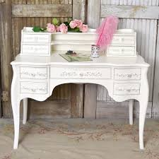 White Writing Desk With Hutch by Gorgeous Ornate Writing Desk In White Shabby Chic Shabby Cottage