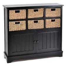 Storage Cabinet With Baskets Black Storage Wicker Basket Cabinet By Kirklands Olioboard