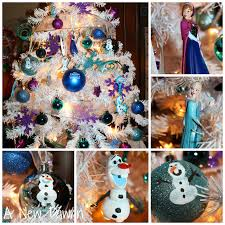 disney u0027s frozen themed christmas tree with handmade ornaments