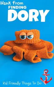 hank the octopus from finding dory glove craft for kids finding