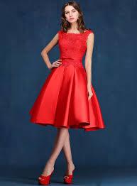 tb dress tbdress a line scoop neck lace knee length prom dress tbdress