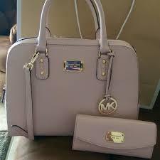 light pink michael kors handbag michael kors purse with matching wallet big and light pink blossom
