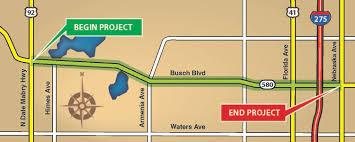 Busch Gardens Map West Busch Boulevard Sr 580 Corridor Study