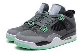 green glow 4 air 4 retro grey green glow cement grey black for sale