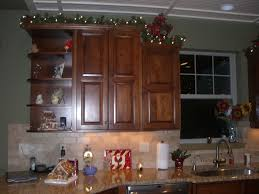 Decorating Ideas For Above Kitchen Cabinets Decorating Top Of Kitchen Cabinets For Christmas Home Design