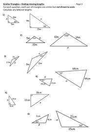 similar triangles worksheet by durhampotter teaching resources tes