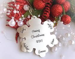 snowflake ornament etsy