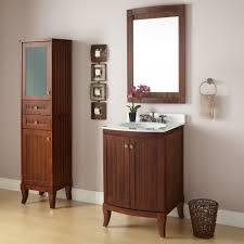 24 Bathroom Vanity With Drawers Bathroom Classic Brown 24 Inch Bathroom Vanity Cabinet Set With
