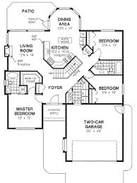 bi level floor plans with attached garage traditional style house plan 3 beds 2 baths 1325 sq ft plan 18
