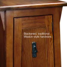 Mission Style Kitchen Cabinet Hardware Amazon Com Leick Favorite Finds Mission Cabinet End Table Russet