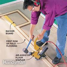 how to lay hardwood floor with a contrasting border flooring