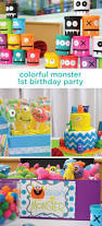 Halloween Themed 1st Birthday Party by Best 25 Monster First Birthday Ideas On Pinterest Monster Party