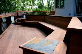 Build Deck Bench Seating Beautiful Built Ins Archadeck Of Bucks Mont