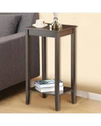 fall sale yaheetech wood coffee table tall bedside nightstand