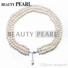 pearl necklace jewelry store images Freshwater cultured white pearl 3 strand necklace 7 8mm potato jpg