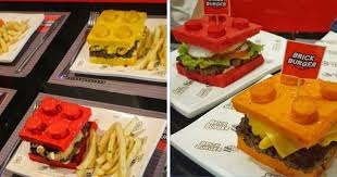 edible legos this edible lego burger is what your inner child craves