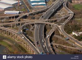 spaghetti junction of the m6 birmingham west midlands junction 6