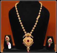 antique necklace chains images Antique long chains haram designs jewellery designs gif
