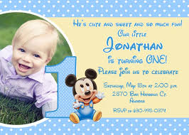 mickey mouse 1st birthday invitations image collections