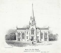 file sketch of the new church proposed to be erected at swansea