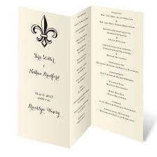 wedding ceremony program paper tri fold program paper wedding ceremony programs stationery to