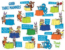 table manners for kids printable help for parents to remind kids of the good manners they should use
