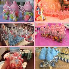candy containers for favors mix pink blue baby bottle candy boxes baby feeding bottle wedding