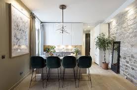 mid century design mid century lighting brings life to apartment in romantic paris