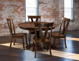 Single Dining Room Chair Amish Kingsley Single Pedestal Dining Table